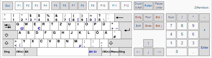 Deutsches Tastatur Layout