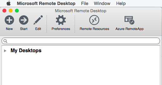 Microsoft Remote Desktop für Apple MAC OS