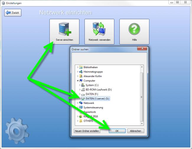 KingBill - so richten Sie den Server im Netzwerk ein!